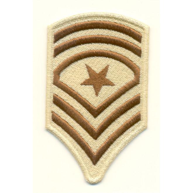 Bordado Divisa GD - 3 Sgt US Army - Caqui