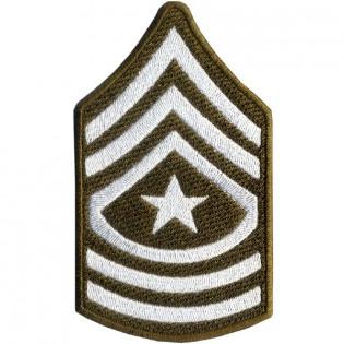Bordado Divisa - 3 Sgt US Army - Verde Pequeno