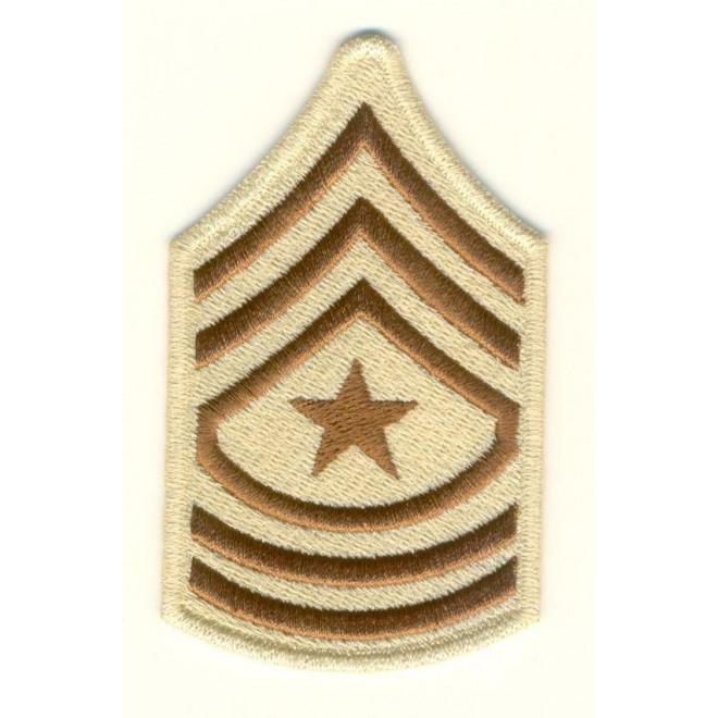 Bordado Divisa - 3 Sgt US Army - Caqui