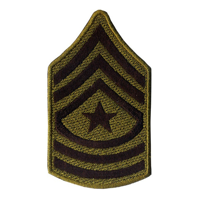 Bordado Divisa - 3 Sgt US Army - Preto