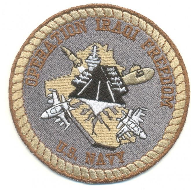 Bordado Operation Iraqi Freedom U.S Navy