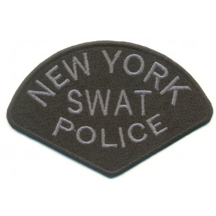 Bordado New York Swat Police - Cinza