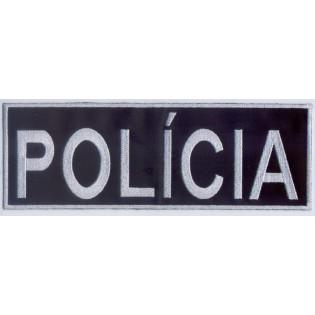 Bordado Policia Tarja Branco (Controlado)