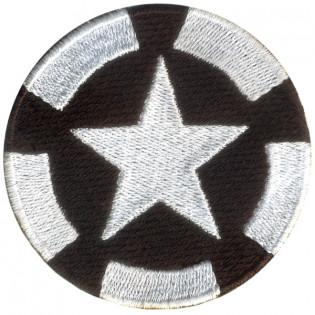 Bordado Estrela US Army Preto Grande
