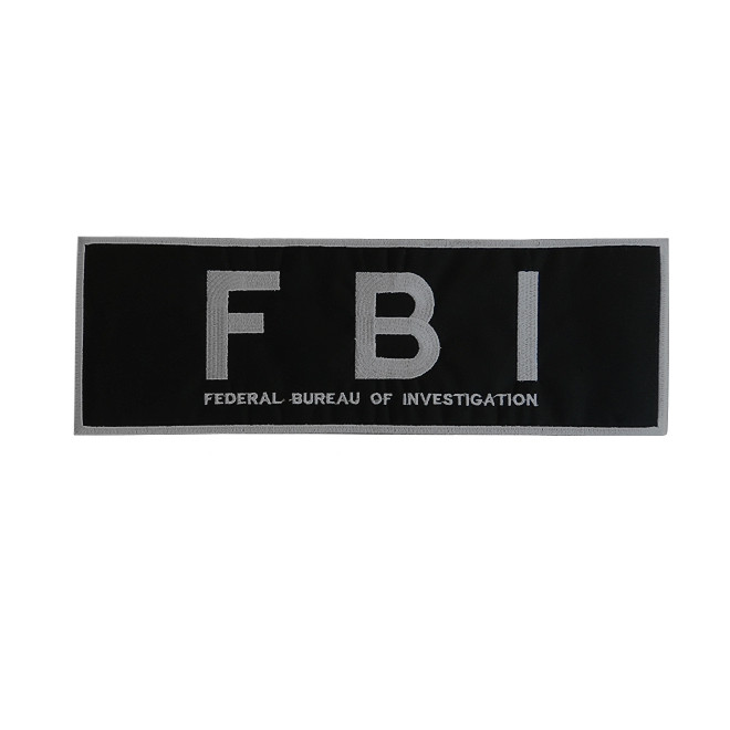 Bordado FBI Costas Cinza