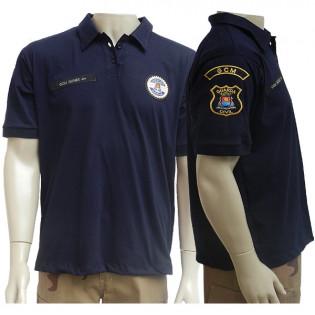 Camisa Polo Padrão GCM Guarujá - Azul Noite
