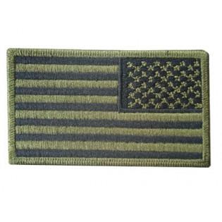 Bordado Bandeira U.S.A. Verde Inversa Grande