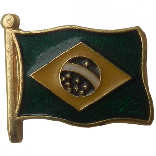 PIN Bandeira Brasil Tremula