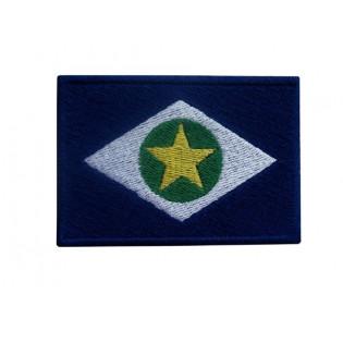 Bordado Bandeira Mato Grosso