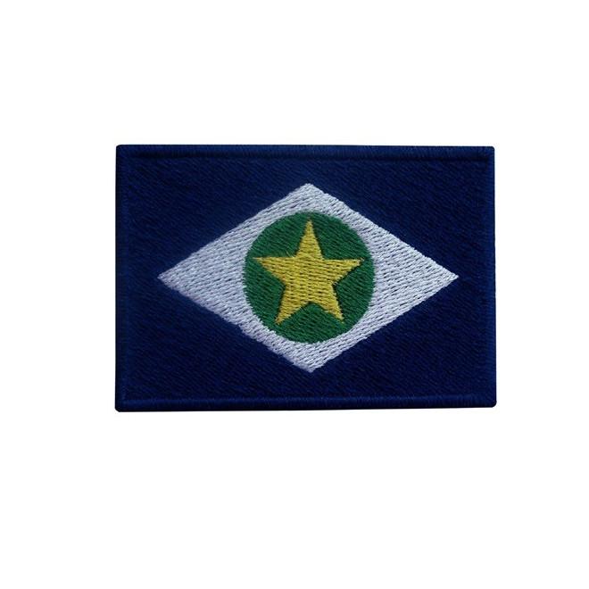 a534833db5 Bordado Bandeira Mato Grosso - Militar Brasil - artigos militares ...