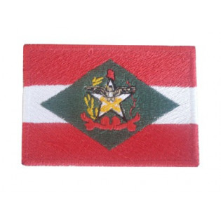 Bordado Bandeira Santa Catarina