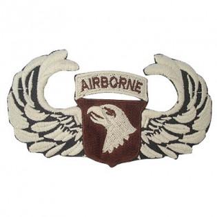Bordado Airborne Águia Bege Fundo Marrom c/ Asa