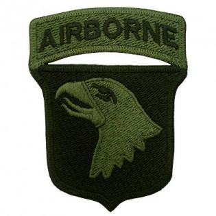 Bordado Airborne Águia Verde C. Fundo Preto