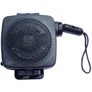 Fiel Retrátil com Simbolo Guarda Civil Metropolitana - Preto