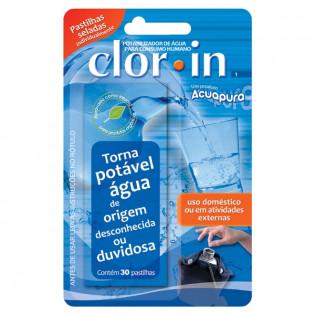 Clor-in 1 Purificador de Água para Consumo Humano (30 Pastilhas)