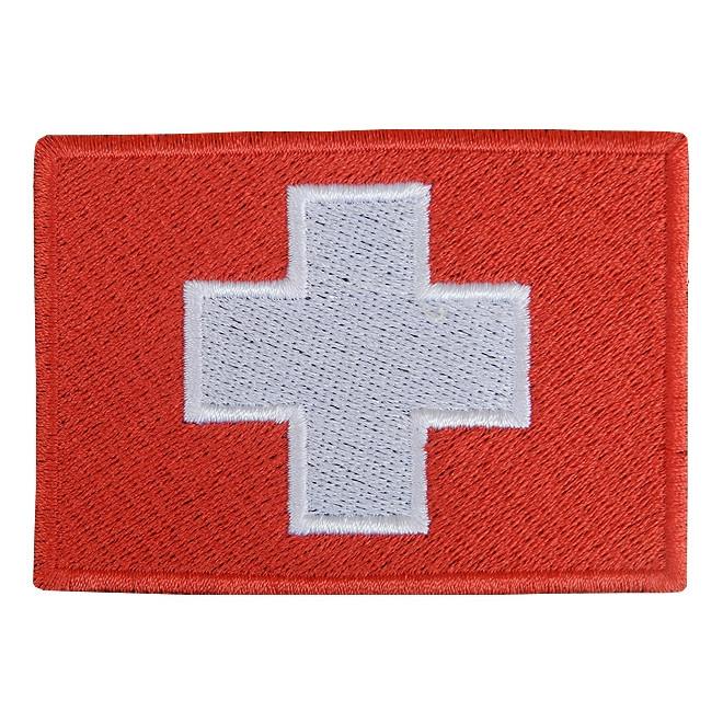 Bordado Bandeira Suiça
