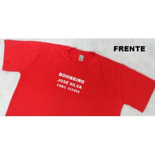 Camiseta CNBC Personalizada - Vermelho