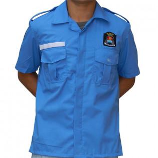 Camiseta Social Vigilante GCM Guaruja - Azul