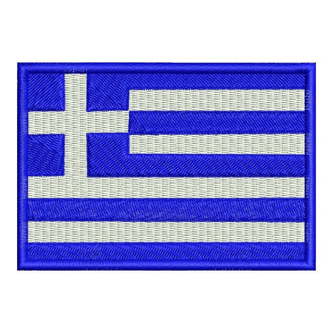 Bordado Bandeira Grecia