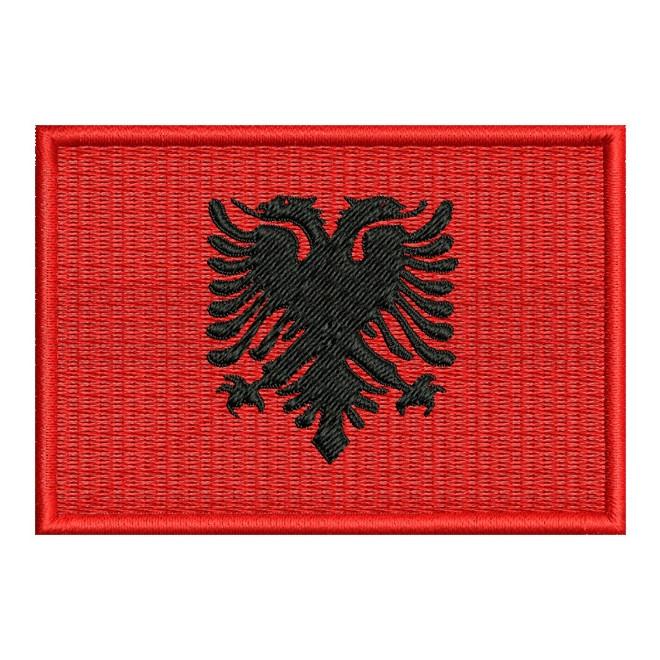 Bordado Bandeira Albania