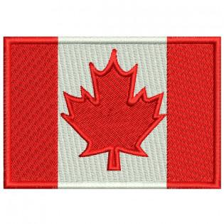 Bordado Bandeira Canada