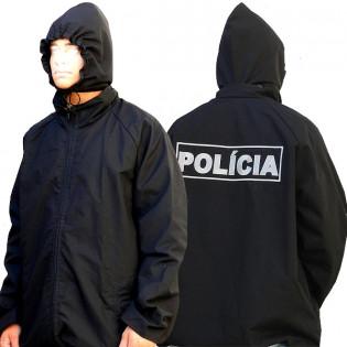 Jaqueta Dupla Face Polícia - Preto