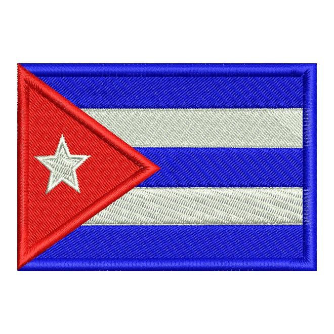 Bordado Bandeira Cuba