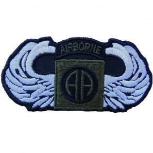Bordado Airborne AA verde c/ Asa branca