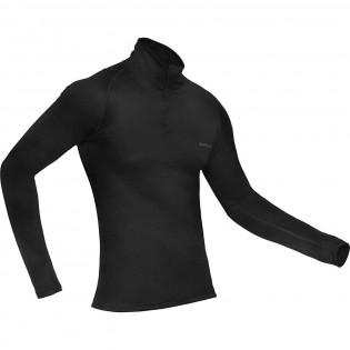 Blusa Masculina Curtlo Zip ThermoSkin - Preta