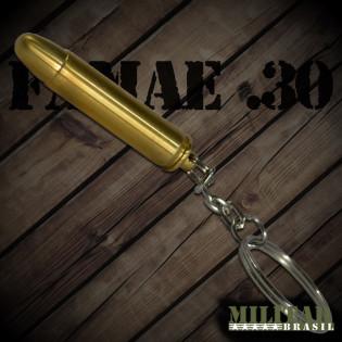 Chaveiro Munição Famae .30 Dourado
