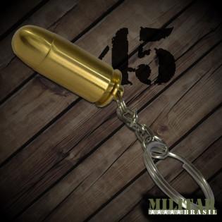 Chaveiro Munição .45 Dourada