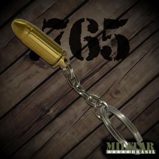 Chaveiro Munição 765 Dourada