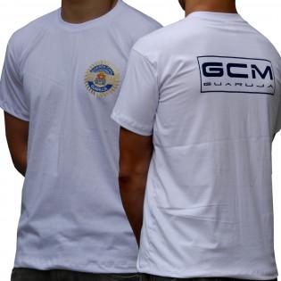 Camiseta Educação Fisica GCM Guarujá - Branco