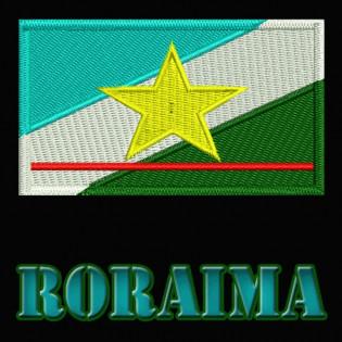 Bordado Bandeira Roraima