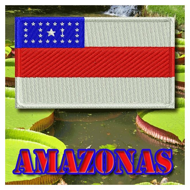 82df183301 Bordado Bandeira Amazonas - Militar Brasil - artigos militares ...