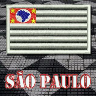 Bordado Bandeira São Paulo Padrão com Velkro