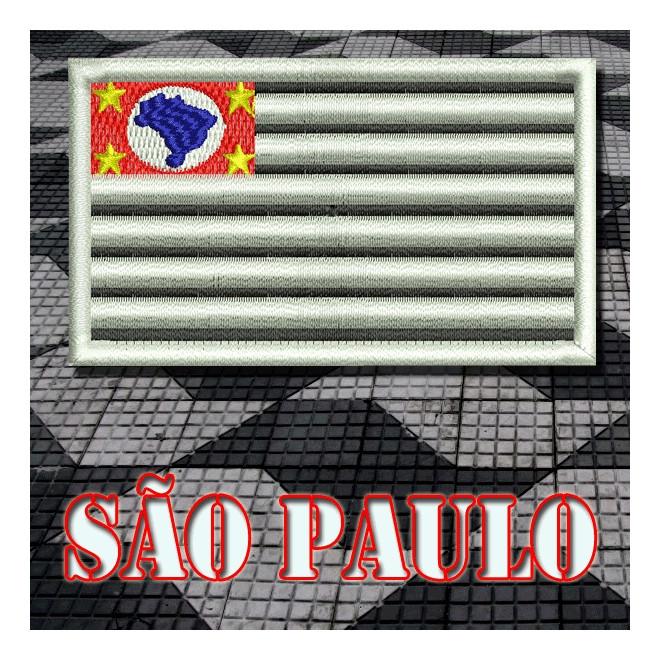 Bordado Bandeira São Paulo Padrão