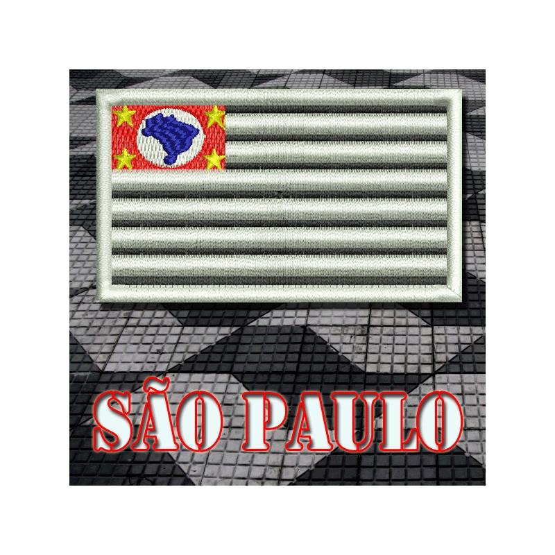 b988dcd7b5 Bordado Bandeira São Paulo Padrão com Velkro - Militar Brasil ...