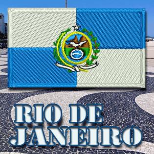 Bordado Bandeira Rio de Janeiro