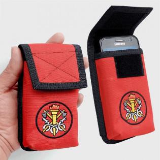 Porta Smartphone Tático Bombeiro c/ Gancho - Vermelho
