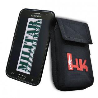 Porta Smartphone Tático HK c/ Gancho - Preto