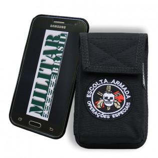 Porta Smartphone Tático Escolta Armada c/ Gancho