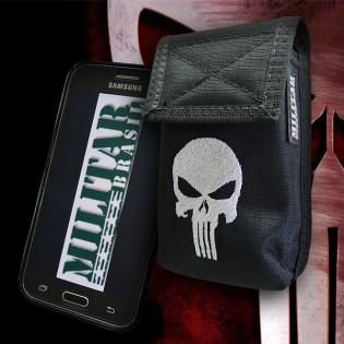 Porta Smartphone Tático Punisher c/ Gancho - Preto