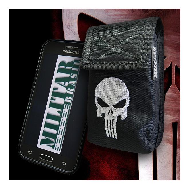 Porta Smartphone Tático Punisher c  Gancho - Militar Brasil ... c868653f9cd