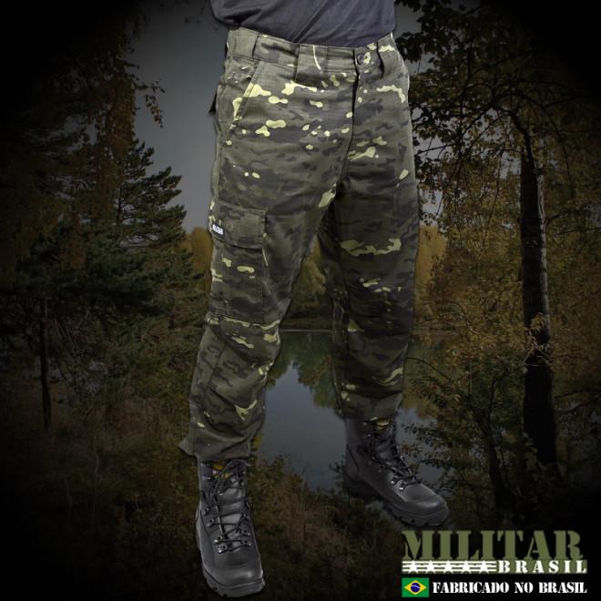 Calça Militar Brasil 1982 - Camo Multicam Black