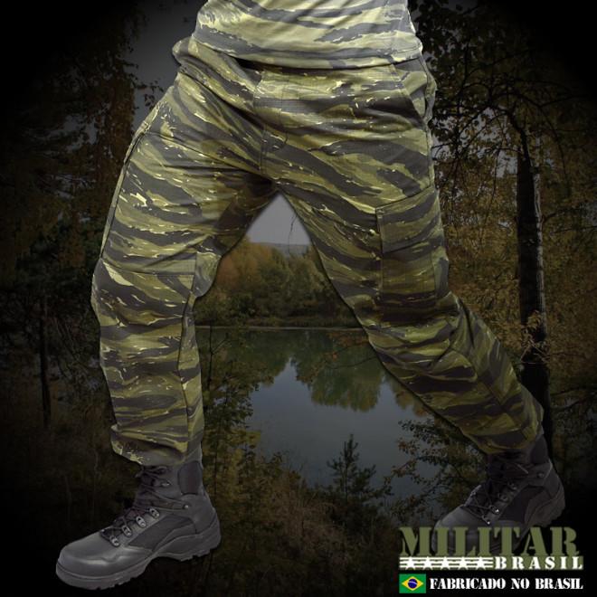 Calça Militar Brasil 1982 - Camo Tiger Jungle
