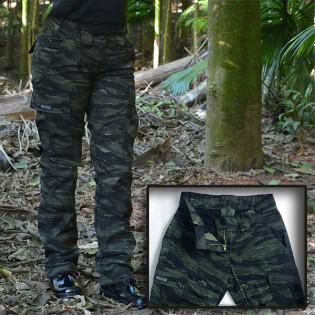 Calça Feminina Militar Brasil 1982 - Camo Tiger Jungle