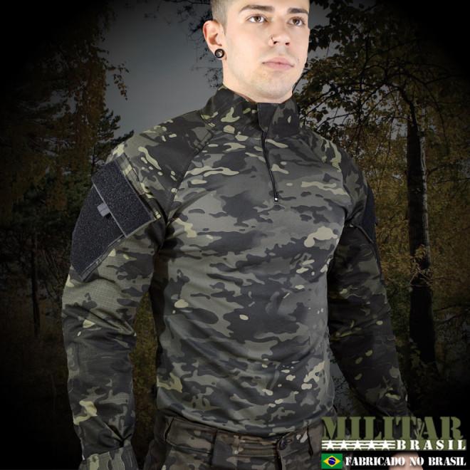 Combat Shirt Full Camo ACU G2 Camo Multicam Black