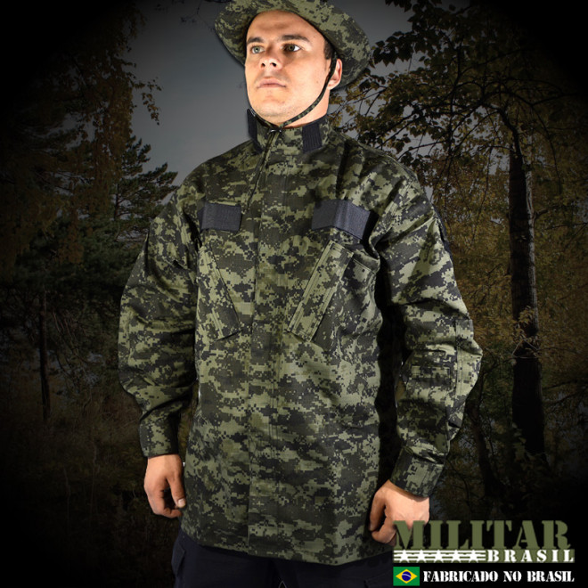 Gandola Uniforme ACU - Camo Digital Tiger Jungle - Militar Brasil ... a2b60a38214