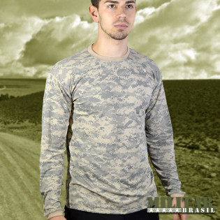 Camiseta Manga Longa Dry Fit Camo Digital Desert